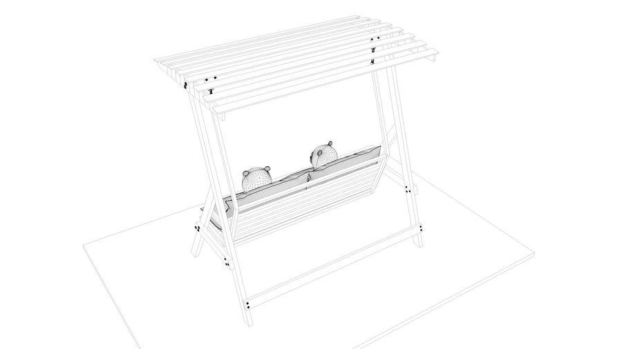 Outdoor Garden Swing Sofa hangmat royalty-free 3d model - Preview no. 21