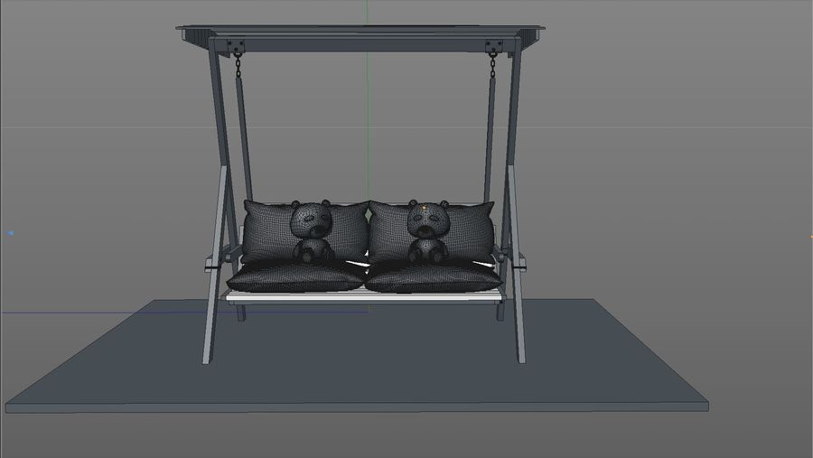 Outdoor Garden Swing Sofa hangmat royalty-free 3d model - Preview no. 15