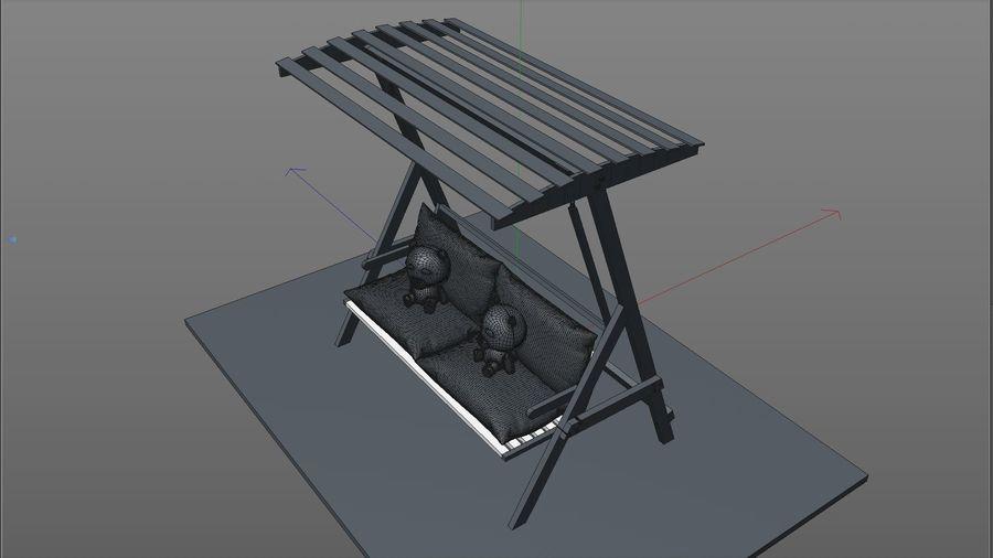 Outdoor Garden Swing Sofa hangmat royalty-free 3d model - Preview no. 13