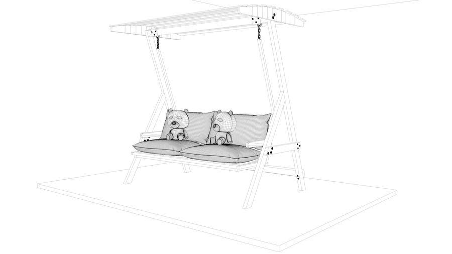Outdoor Garden Swing Sofa hangmat royalty-free 3d model - Preview no. 20