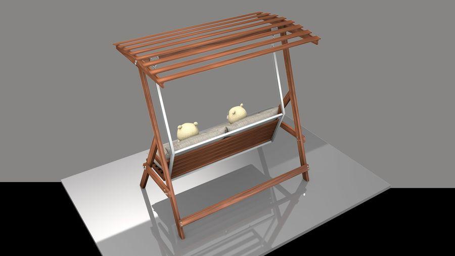 Outdoor Garden Swing Sofa hangmat royalty-free 3d model - Preview no. 3