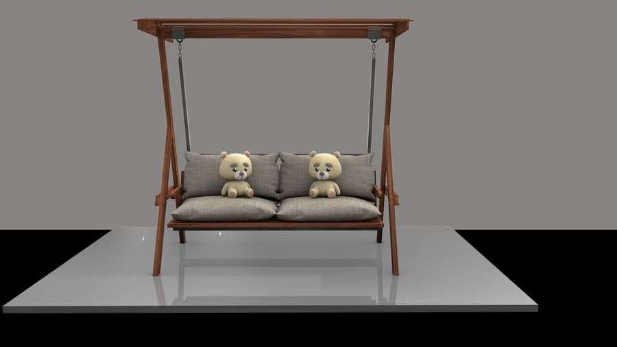 Outdoor Garden Swing Sofa hangmat royalty-free 3d model - Preview no. 4