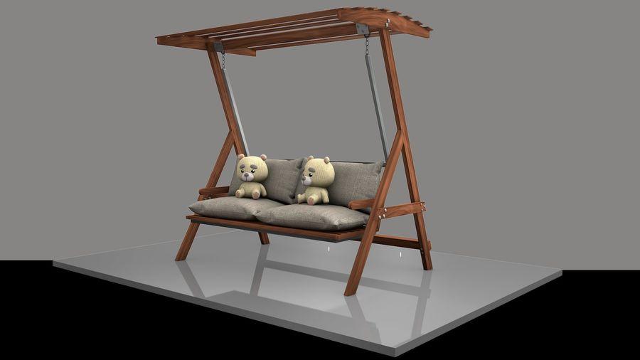 Outdoor Garden Swing Sofa hangmat royalty-free 3d model - Preview no. 10