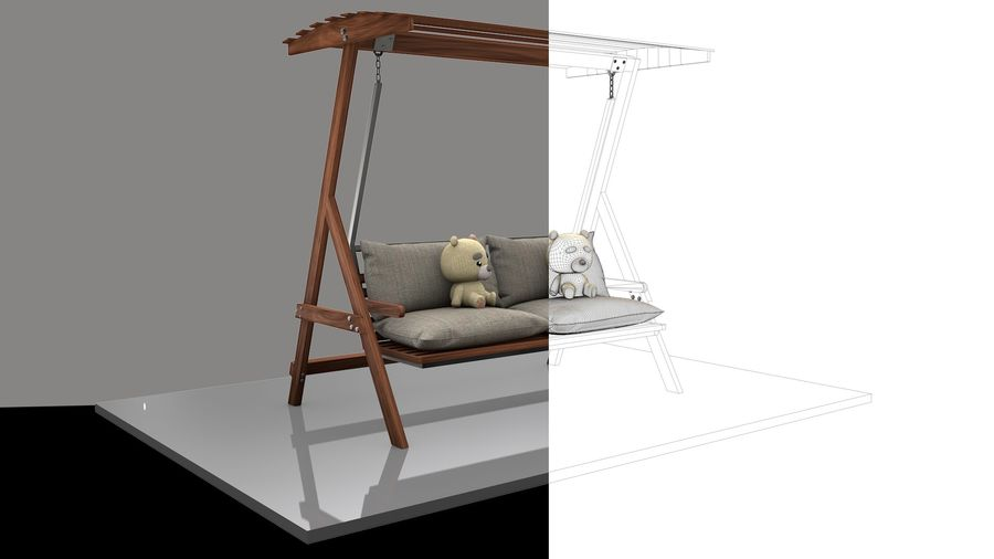 Outdoor Garden Swing Sofa hangmat royalty-free 3d model - Preview no. 1