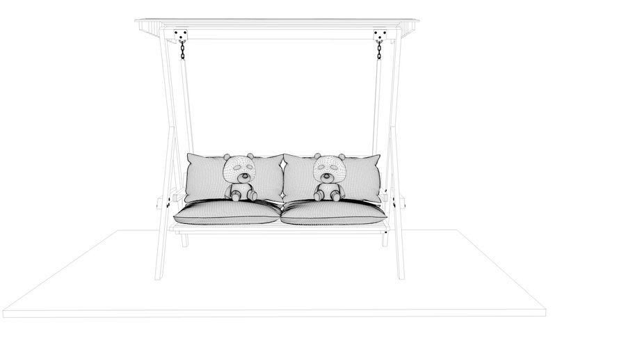 Outdoor Garden Swing Sofa hangmat royalty-free 3d model - Preview no. 22