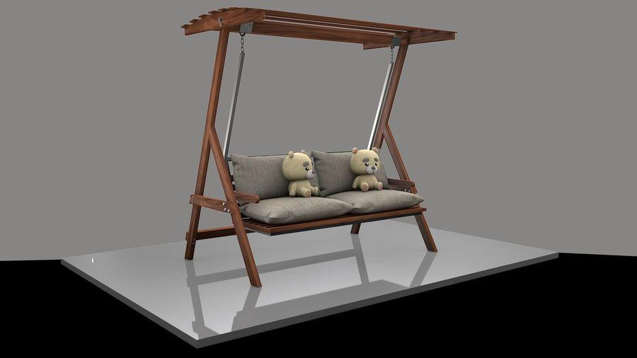 Outdoor Garden Swing Sofa hangmat royalty-free 3d model - Preview no. 9