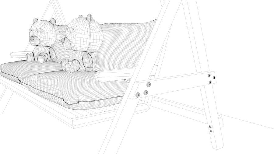 Outdoor Garden Swing Sofa hangmat royalty-free 3d model - Preview no. 23