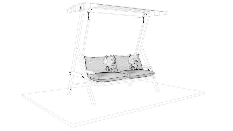 Outdoor Garden Swing Sofa hangmat royalty-free 3d model - Preview no. 19