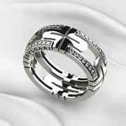Bvlgari Gold Ring print 3d model
