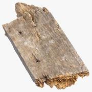 Złamany kawałek drewna 03 3d model
