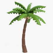 卡通棕榈树 3d model