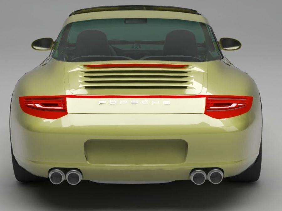 Porsche 911 royalty-free 3d model - Preview no. 5