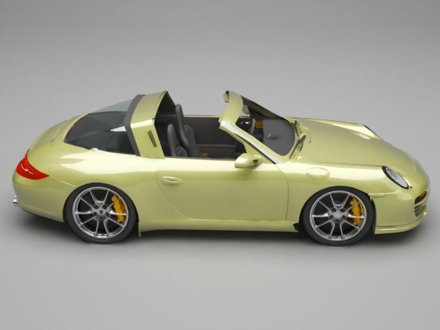 Porsche 911 royalty-free 3d model - Preview no. 7