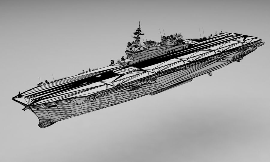 Statek marynarki wojennej royalty-free 3d model - Preview no. 12
