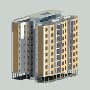 Budynek mieszkalny 8 piętra 3d model