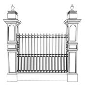 classic  fence 3d model