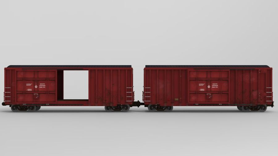 Güterwagen royalty-free 3d model - Preview no. 2