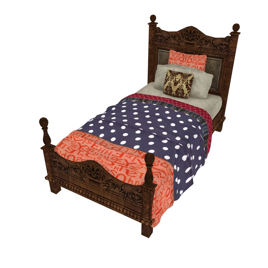 Bedcloth 98 royalty-free 3d model - Preview no. 1