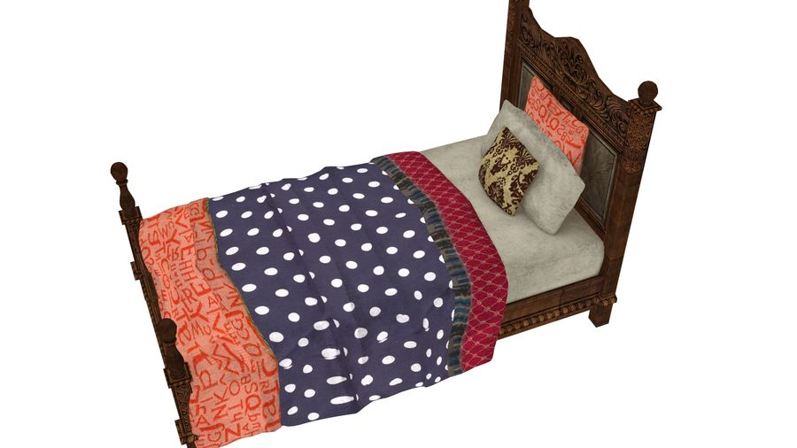 Bedcloth 98 royalty-free 3d model - Preview no. 4