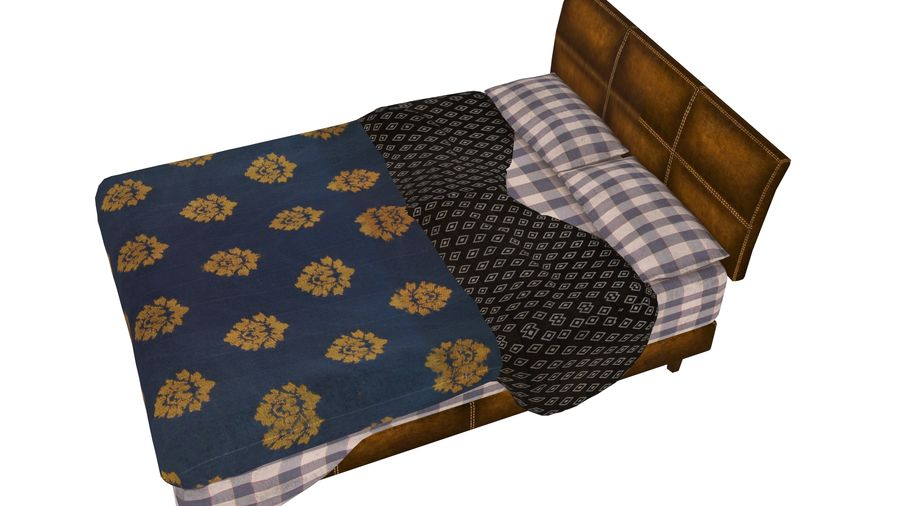 Bedcloth 119 royalty-free 3d model - Preview no. 4