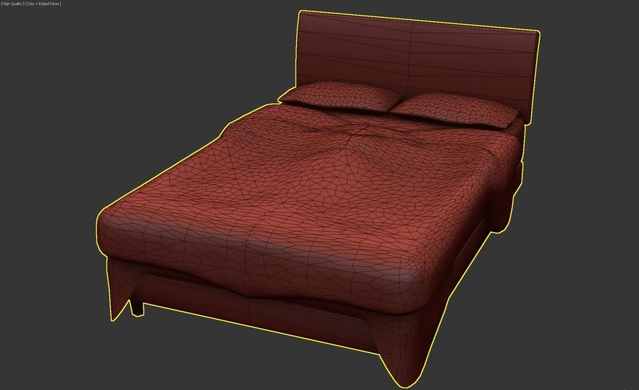 Bedcloth 119 royalty-free 3d model - Preview no. 5