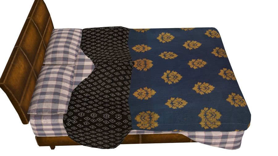 Bedcloth 119 royalty-free 3d model - Preview no. 2