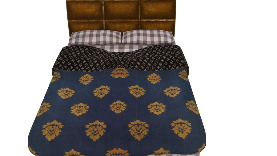 Bedcloth 119 royalty-free 3d model - Preview no. 3