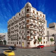 edificio classico a due elevazioni 3d model