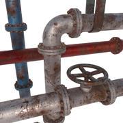 Tubos modulares oxidados modelo 3d