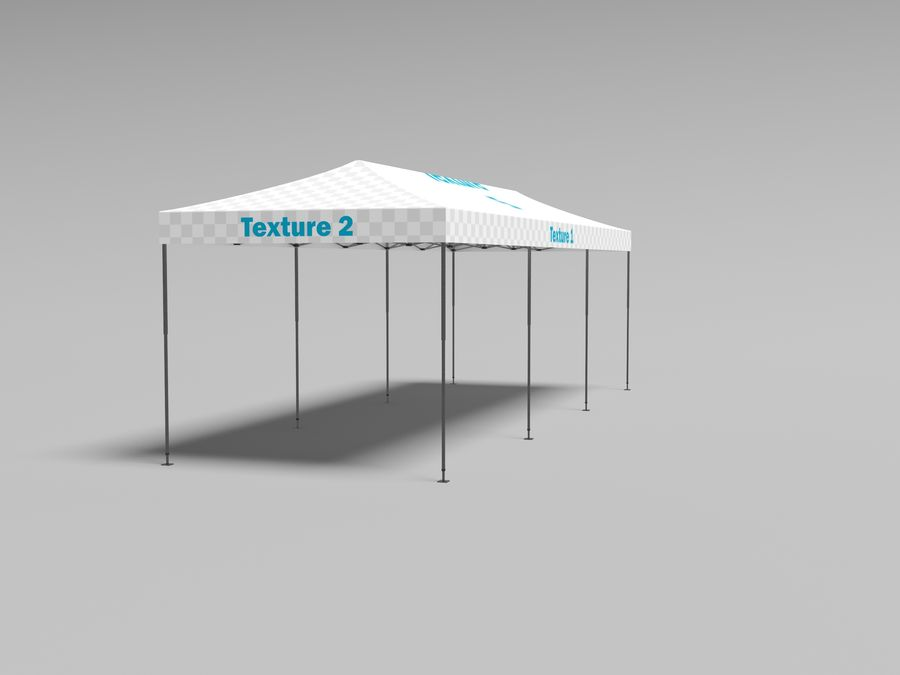 Tent marquee tabernacle pavilion #6 3D model royalty-free 3d model - Preview no. 8
