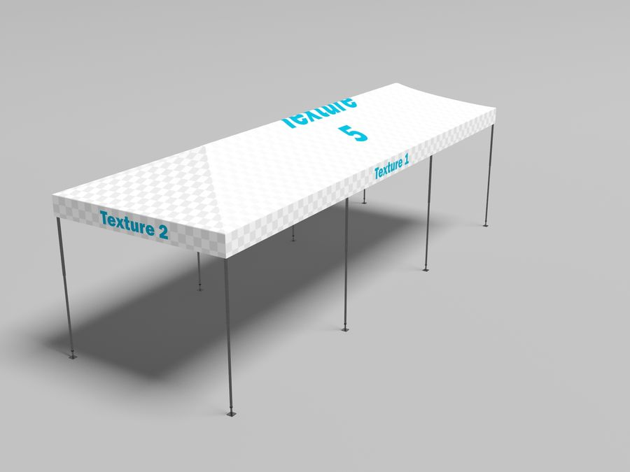 Tent marquee tabernacle pavilion #6 3D model royalty-free 3d model - Preview no. 9