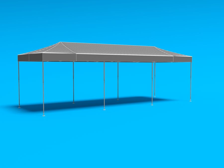 Tent marquee tabernacle pavilion #6 3D model royalty-free 3d model - Preview no. 16