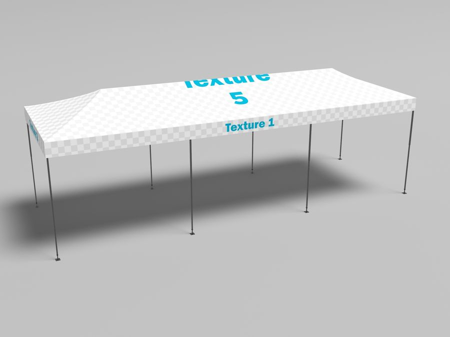 Tent marquee tabernacle pavilion #6 3D model royalty-free 3d model - Preview no. 10