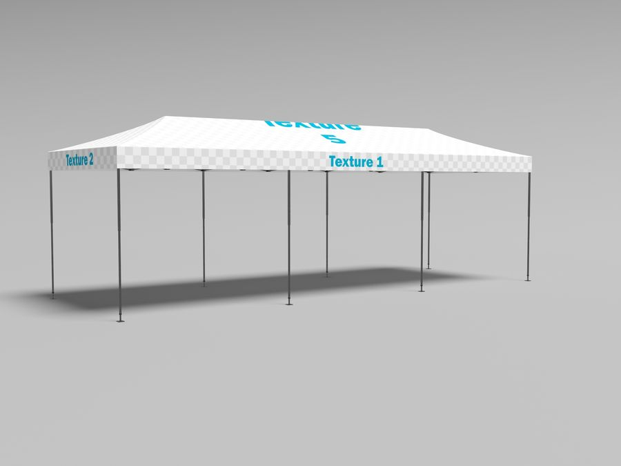 Tent marquee tabernacle pavilion #6 3D model royalty-free 3d model - Preview no. 7