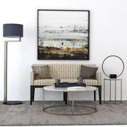 Набор мебели Компания Диван и Стул (набор 3) 3d model