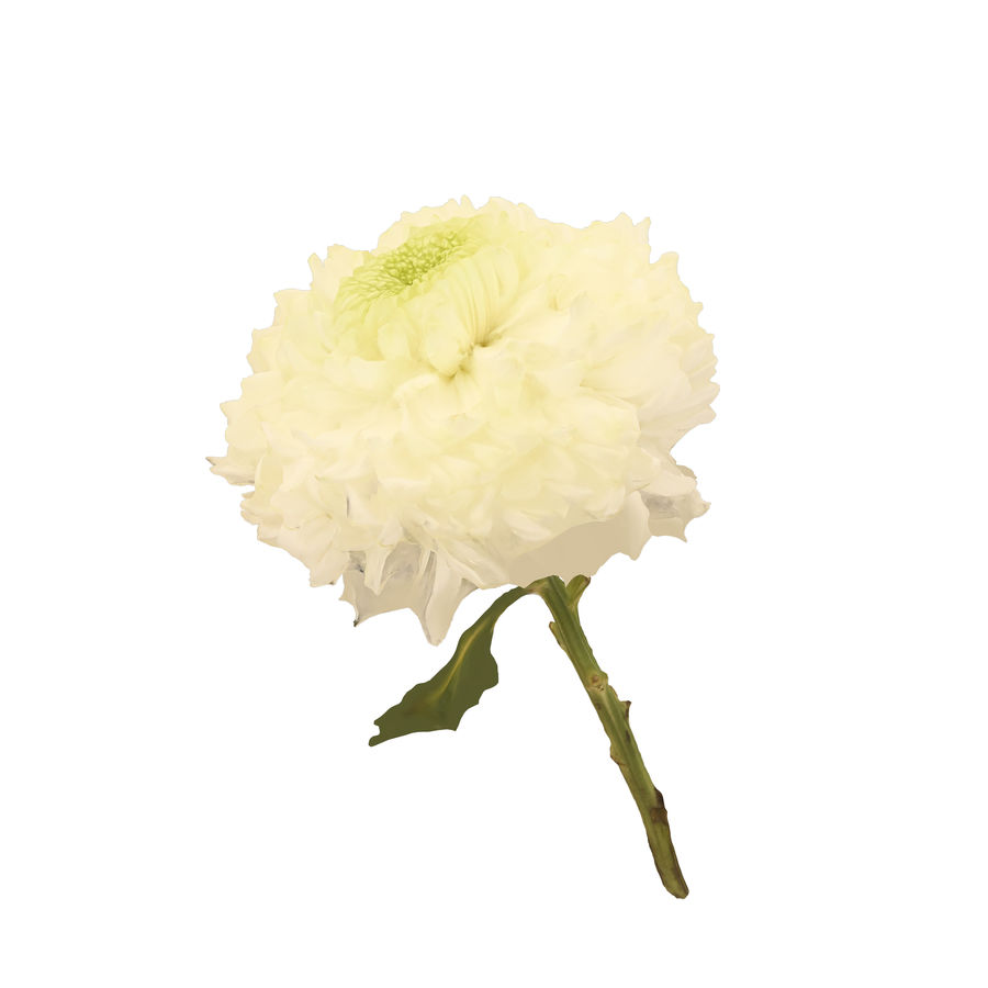 Fw24 - Yellow Flower royalty-free 3d model - Preview no. 1