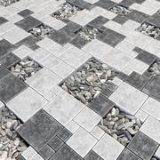 铺装方形鹅卵石n1 3d model