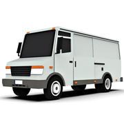 卡通平板货车 3d model