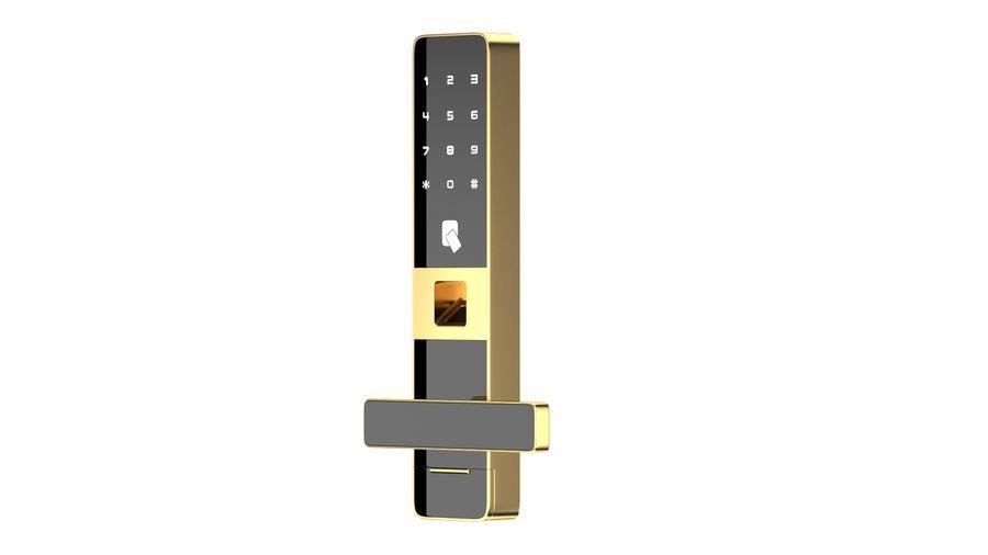 数字电子门锁 royalty-free 3d model - Preview no. 4