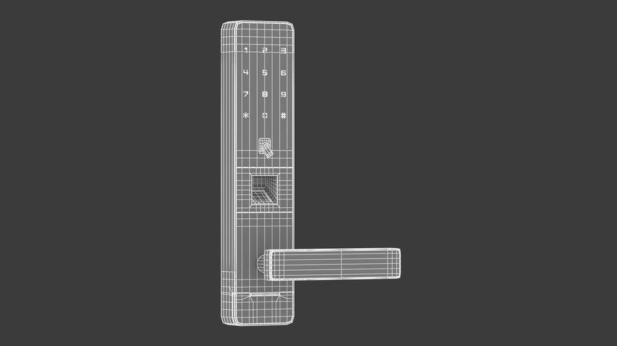 数字电子门锁 royalty-free 3d model - Preview no. 5