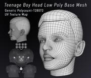 Teenage Head Düşük Poli Taban Mesh 3d model