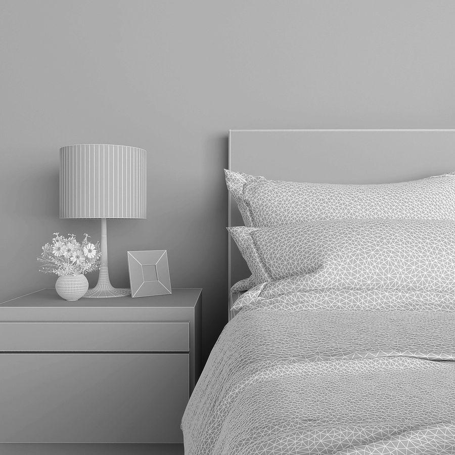 Slaapkamer set royalty-free 3d model - Preview no. 4