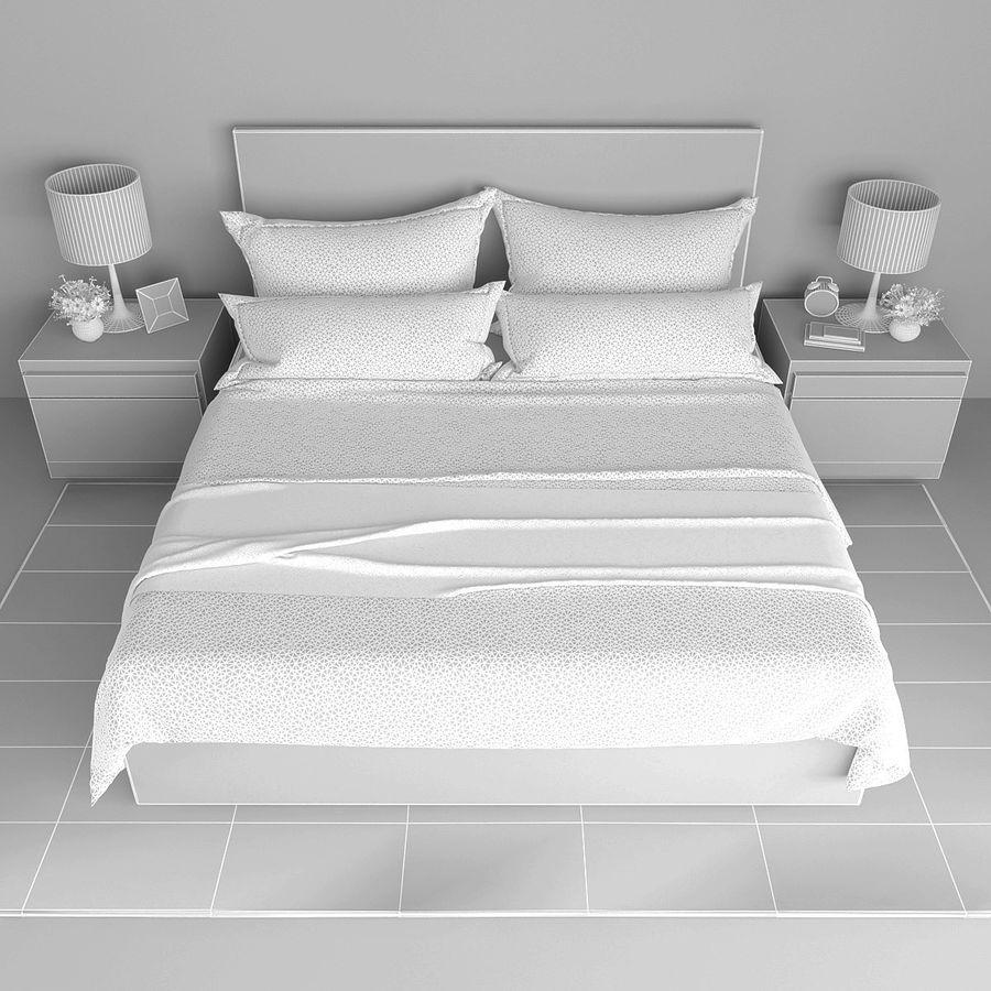 Slaapkamer set royalty-free 3d model - Preview no. 5