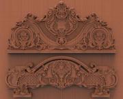 lit desing sculpture sur bois 3d model