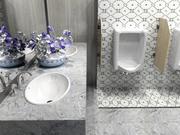 Restaurant Bathroom 4500x3200 mm 3d model