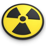 Símbolo radiactivo modelo 3d