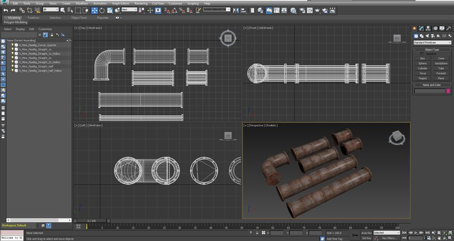 pipe royalty-free 3d model - Preview no. 9