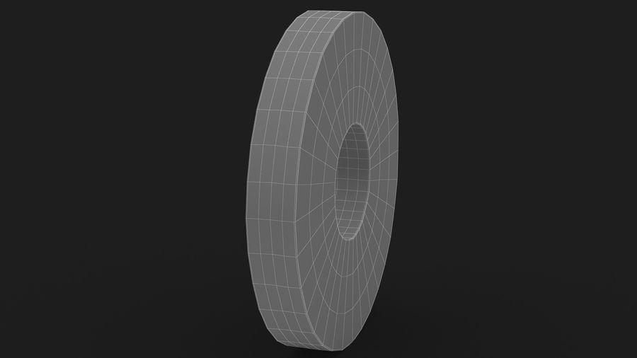 Okrągły plasterek ananasa royalty-free 3d model - Preview no. 15