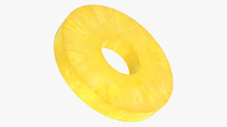 Okrągły plasterek ananasa royalty-free 3d model - Preview no. 13