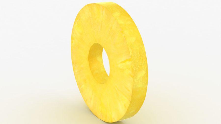 Okrągły plasterek ananasa royalty-free 3d model - Preview no. 5